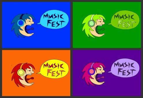 music fest collage